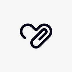 Paperclip love heart logo for Office Products Depot
