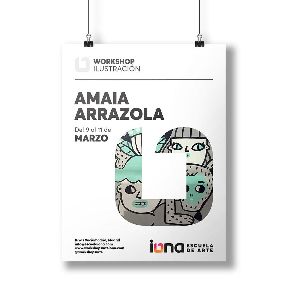 iONA School of Art workshops poster design - Amaia Arrazola