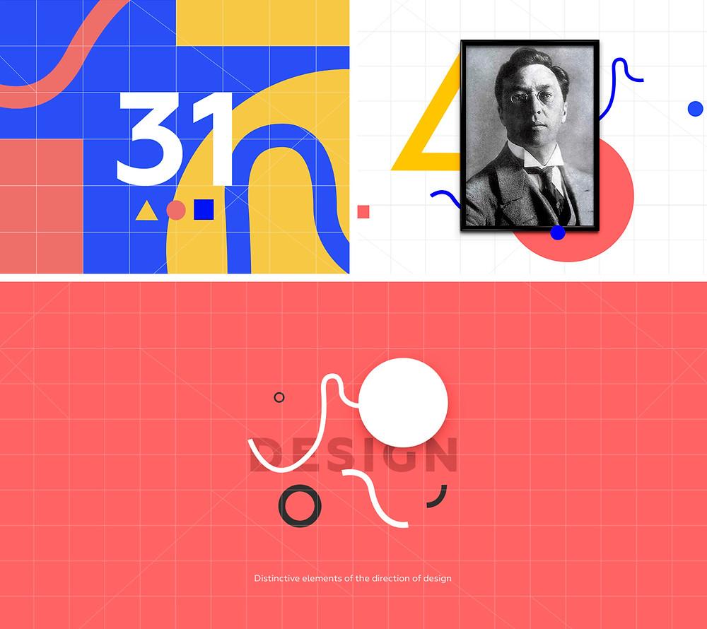 in homage to Kandinsky web design