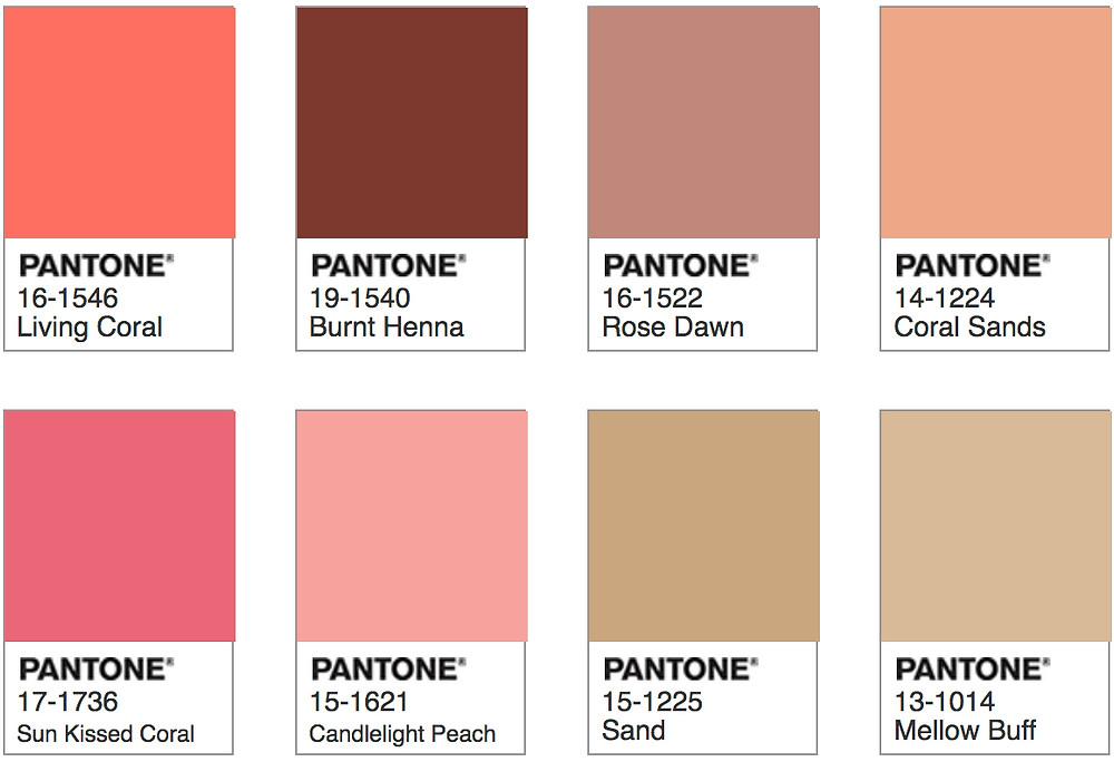 Pantone Living Coral - Sympatico Palette