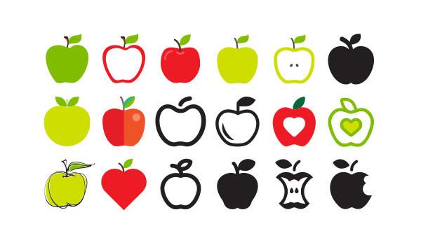 many apple logos icons