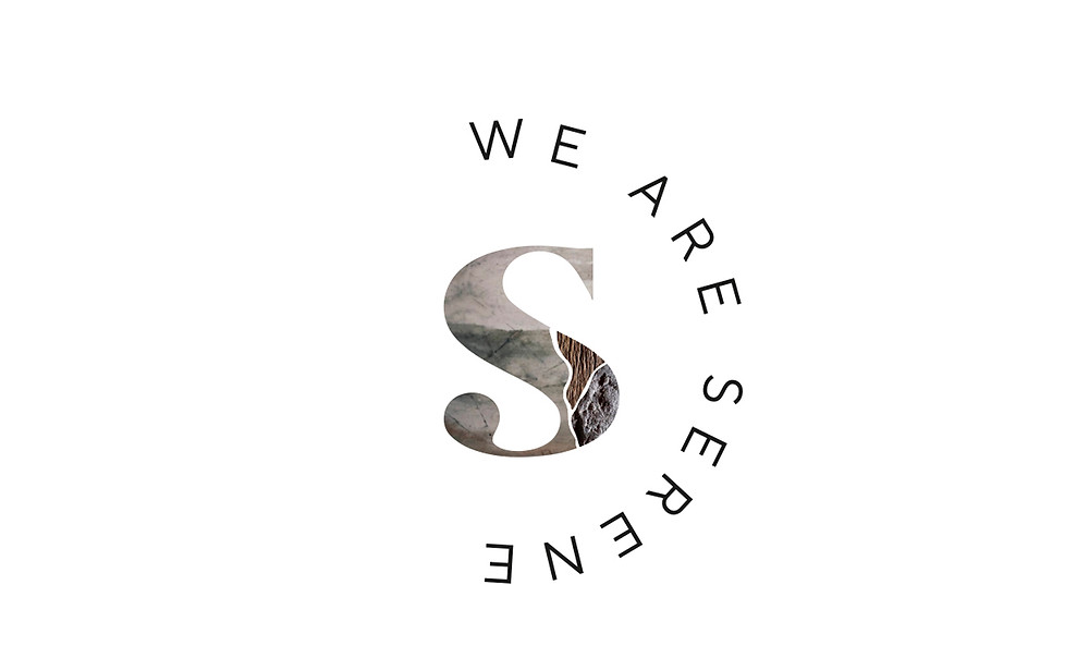 we are serene logo concept 2 on white background