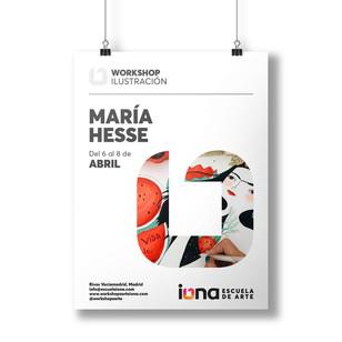 iONA School of Art workshops poster design - Maria Hesse