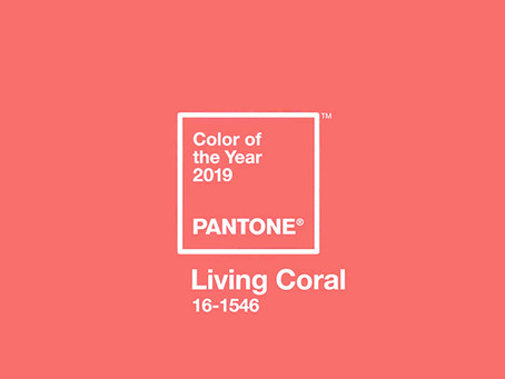 Pantone Colour of the Year 2019 Living Coral In Use