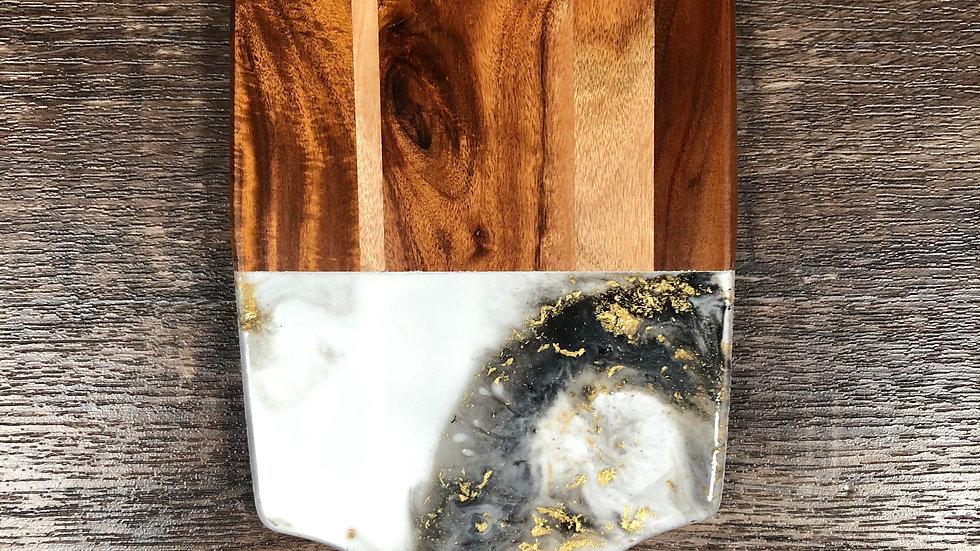 Black, White, Gold - Acacia Cheeseboard