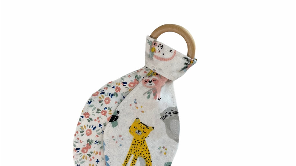 Teething Ring and Cloth