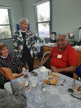 Rev. Susan, Bishop Susan, and Ed Moore