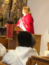Bishop Susan preaches