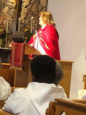 Bishop Susan preaches