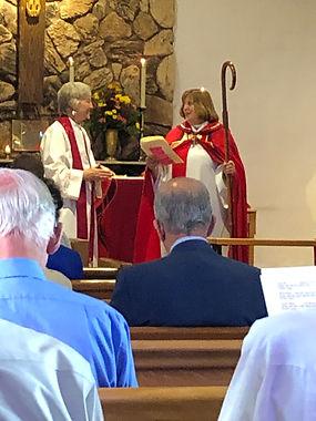 Bishop Susan presents to Rev. Susan