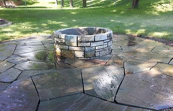 Custom Stone Firepit Outdoors Elk River, MN