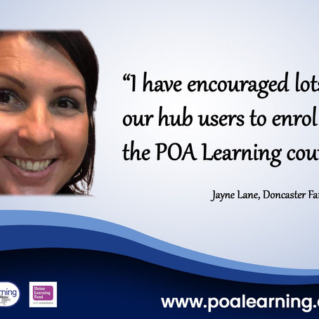 Jayne supports learning in the community...
