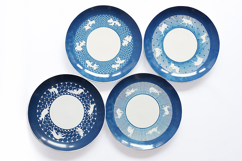 DOUBLE DECORATED Dinner Plate