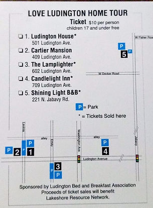 Love Ludington Home Tour Ticket/Map
