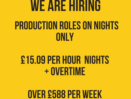 JCB Are Hiring For Night Shift Production Roles