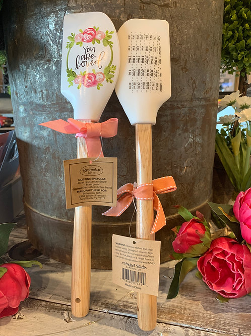 """Spatula with Measuring Table on Back """"You are Loved"""""""