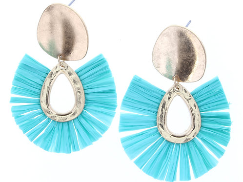 Jane Marie Aqua/Gold Earrings