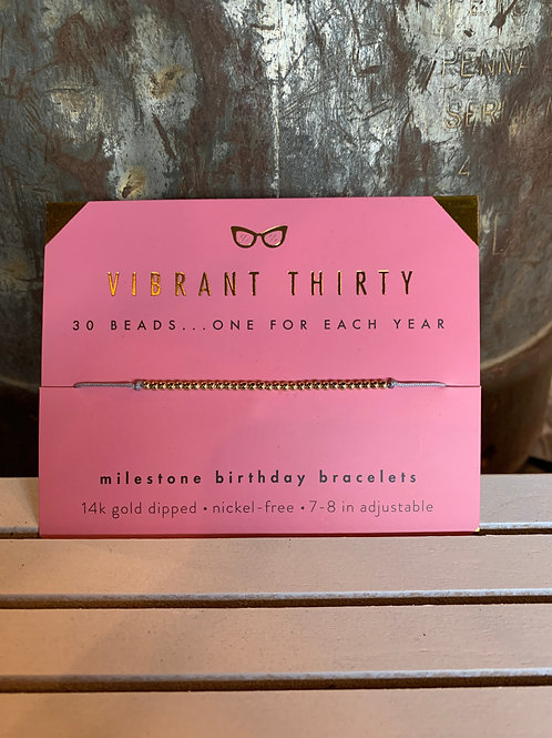 Lucky Feather Milestone Birthday - Gold 30