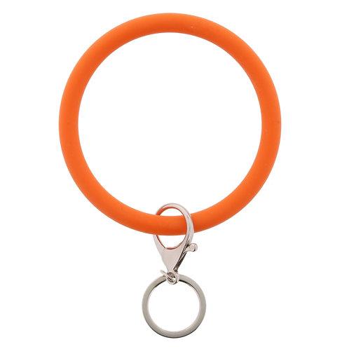 Jane Marie Silicone Bangle Keychain - Orange