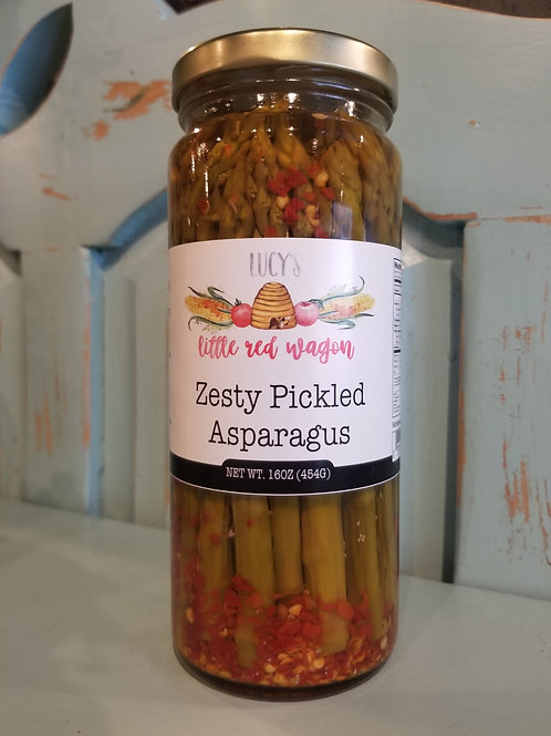 Lucy's Zesty Pickled Asparagus