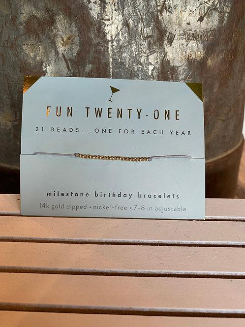 Lucky Feather Birthday Milestone - Gold 21