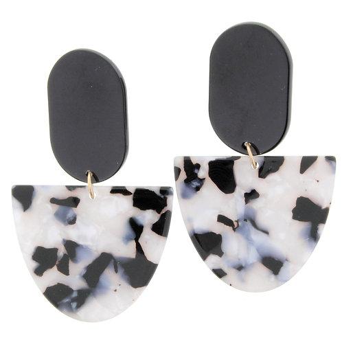 Jane Marie Black Marble Dangle Earrings