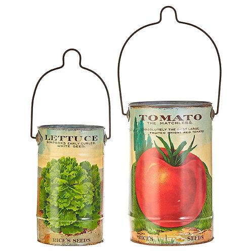 """9.5"""" Tomato & Lettuce Decor (Ste)"""