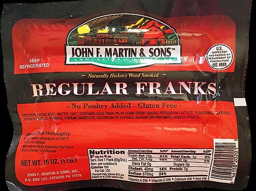 Regular Franks (Beef & Pork) 1 Pound Pack