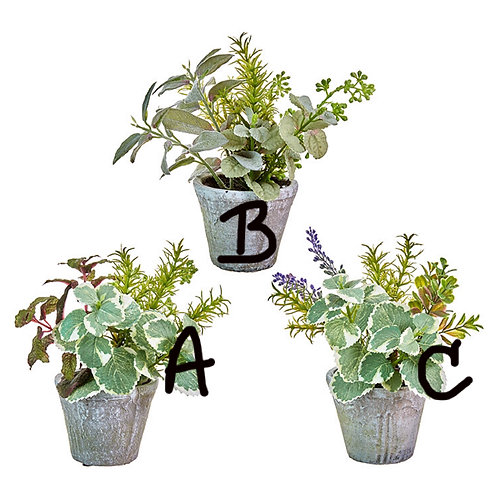 """9.75"""" Artificial (B) Potted Herb Plant"""