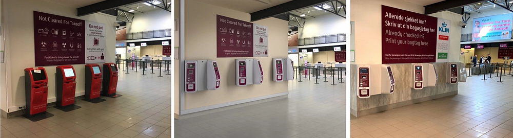Tagomats designed by NewTracks installed at Torp Airport
