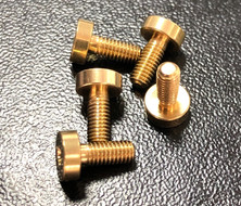 Gold plated brass screws by NewTracks