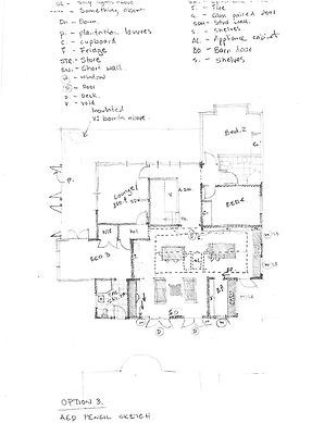 Pencil sketch plans central coast archit
