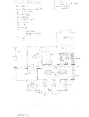 Pencil sketch plans central coast archit