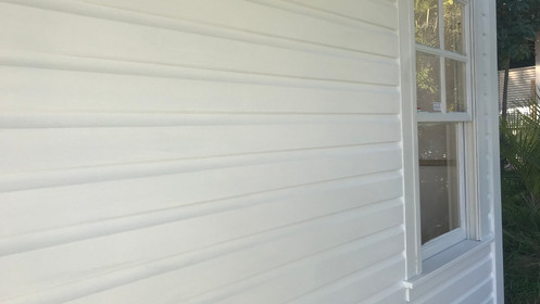White painted timber windows - New Hamptons style home