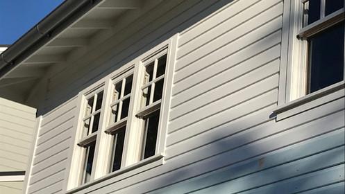 Painted timber windows - Hamptons style