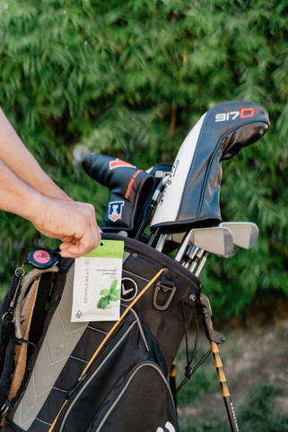 Golf with Complement Cannabis gum