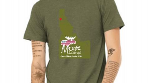 Heather Olive Idaho Logo T-Shirt