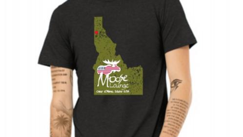 Heather Black Idaho Logo T-Shirt