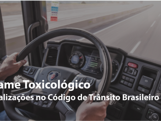 Exame toxicológico: o que muda com as novas alterações no Código de Trânsito