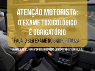 Faça o exame toxicológico para motoristas no Grupo Realiza