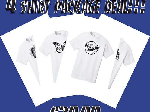 4 Shirt Package