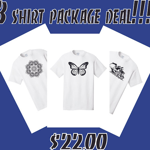 3 shirt package