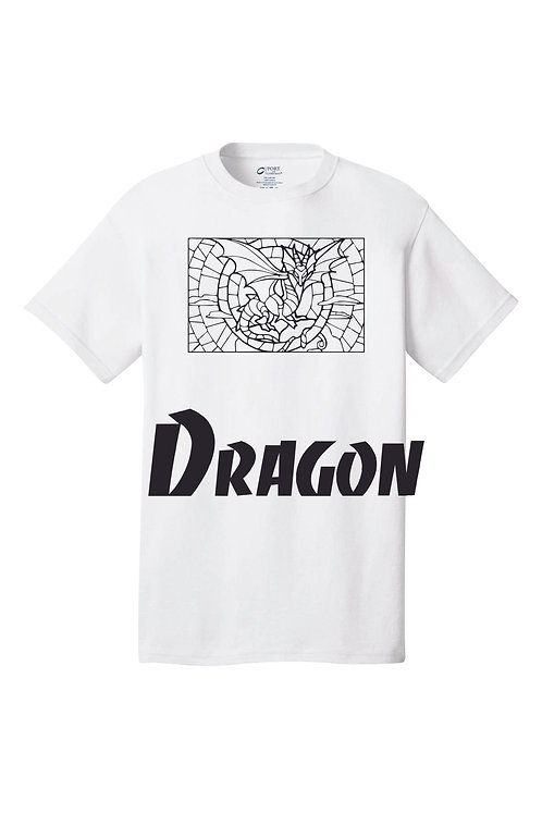 Color By Number. Dragon Design