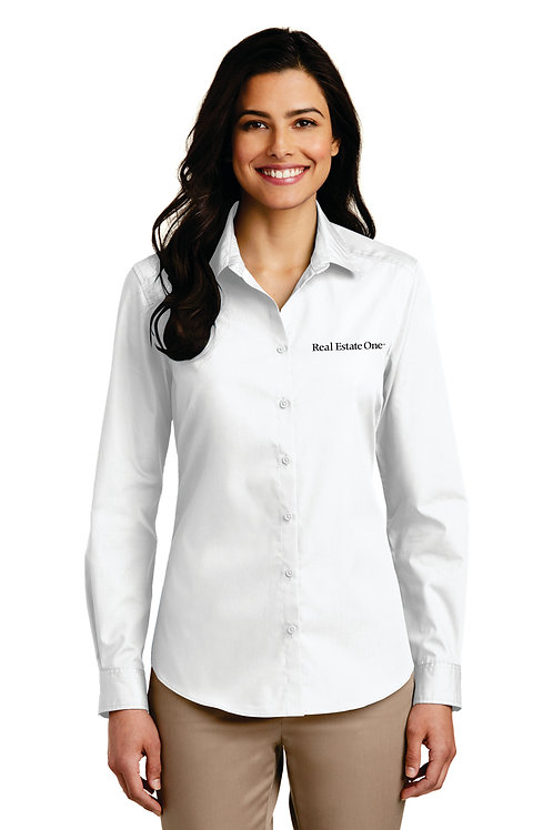 Care Free ladies Long Sleeve Poplin Shirt