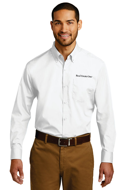 Men's Long Sleeve Care Free Poplin