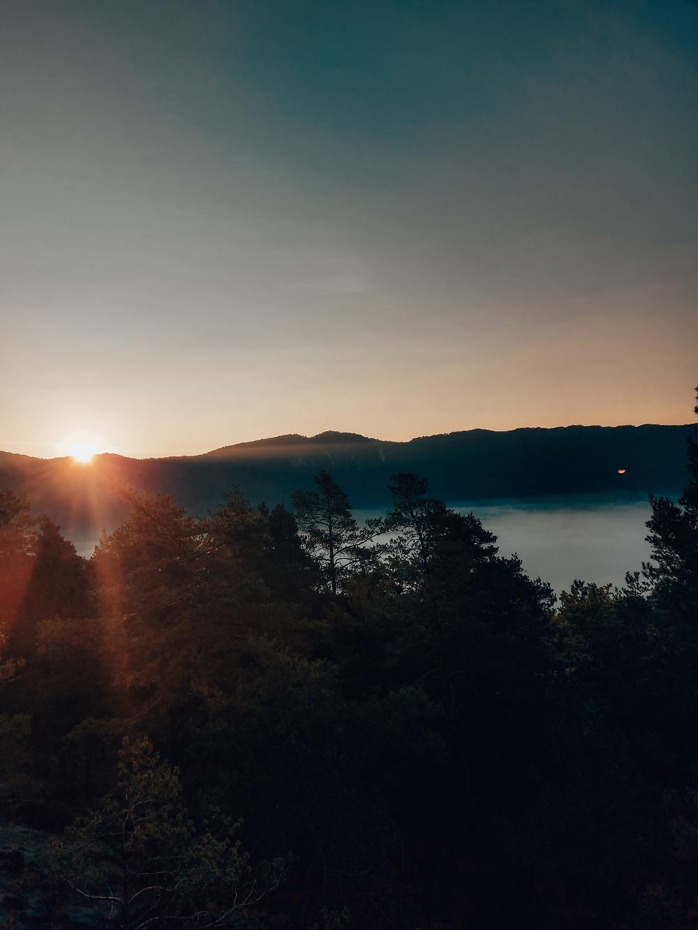 východ slnka Súľovské skaly