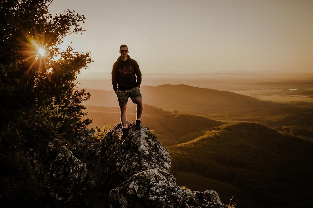 východ slnka Čierna skala Malé Karpaty