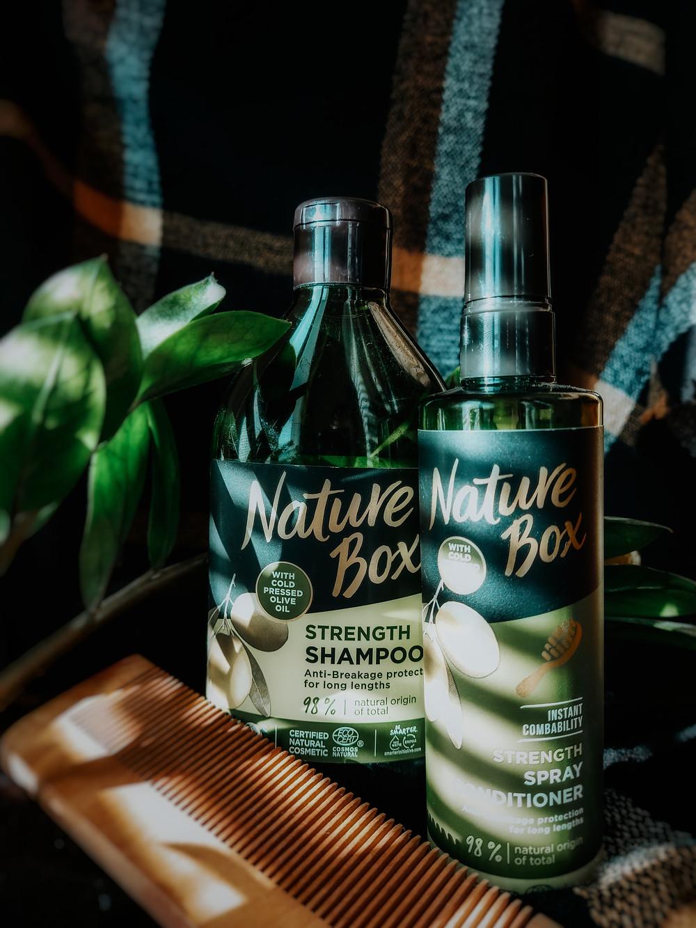 šampón na vlasy s olivovým olejom nature box