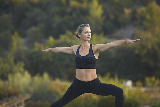Yoga, posture du guerrier 2