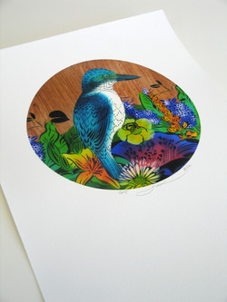 Flox Kingfisher and Lily Veneer
